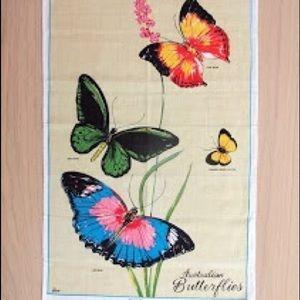 NWOT Linen Tea ☕️ Towel with Butterfly 🦋 Design
